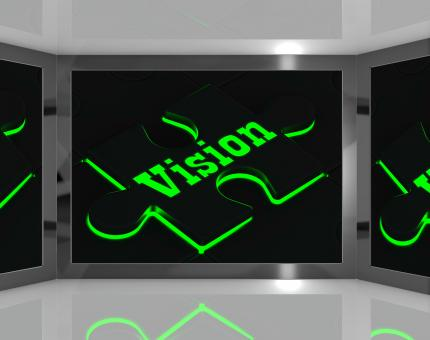 Free Stock Photo of Vision On Screen Showing Predictions