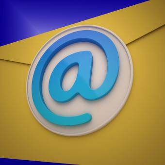 Free Stock Photo of Email Envelope Shows Contact Mailing Online