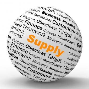 Free Stock Photo of Supply Sphere Definition Shows Goods Provision Or Product Demand