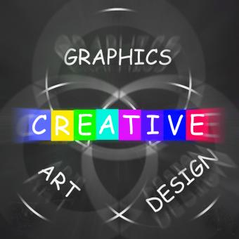 Free Stock Photo of Creative Choices Displays Graphics Art Design and Creativity