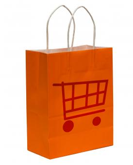 Free Stock Photo of Shopping Bag With Shopping Cart Symbol