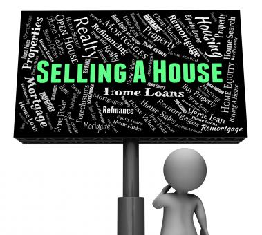 Free Stock Photo of Selling A House Shows Promotion Residence And Marketing