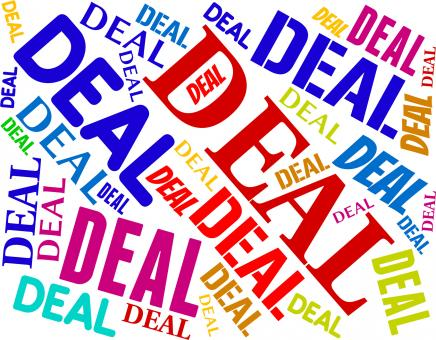 Free Stock Photo of Deal Word Means Best Deals And Agreement