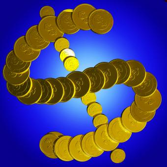 Free Stock Photo of Coins Dollar Symbol Shows American Market
