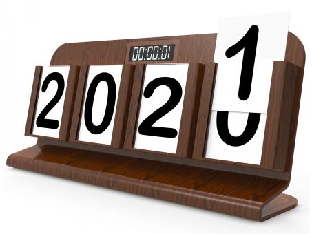 Free Stock Photo of Twenty Twenty One Shows 2021 New Year 3d Rendering