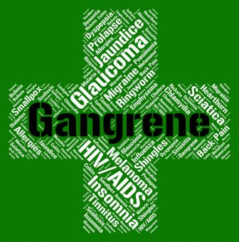 Free Stock Photo of Gangrene Word Shows Poor Health And Gangrenous