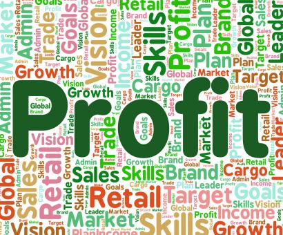 Free Stock Photo of Profit Word Means Earns Profits And Wordcloud