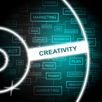 Free Stock Photo of Creativity Word Shows Creative Vision And Imagination
