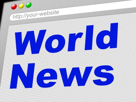 Free Stock Photo of World News Indicates Newsletter Info And Globalize