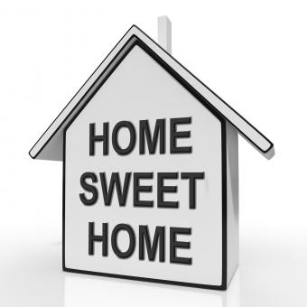 Free Stock Photo of Home Sweet Home House Means Welcoming And Comfortable