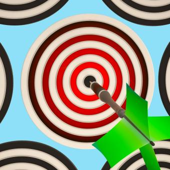 Free Stock Photo of Bulls eye Target Shows Focused Successful Aim
