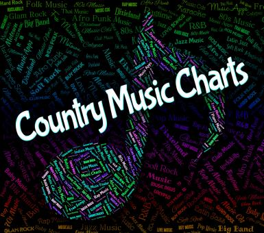 Free Stock Photo of Country Music Charts Shows Best Seller And Audio