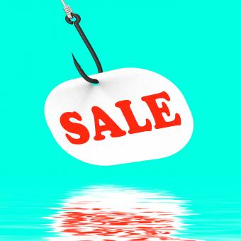 Free Stock Photo of Sale On Hook Displays Special Discounts And Promotions