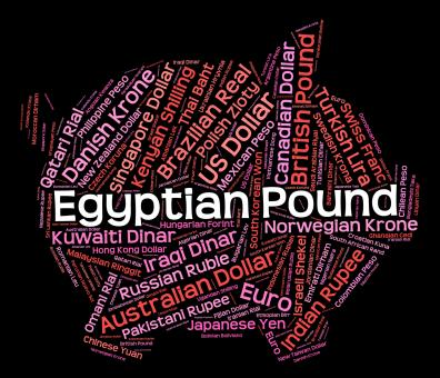 Free Stock Photo of Egyptian Pound Indicates Currency Exchange And Currencies
