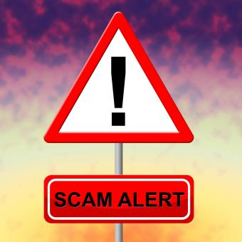 Free Stock Photo of Scam Alert Indicates Rip Off And Advertisement