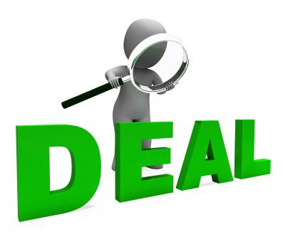 Free Stock Photo of Deal Character Shows Deals Trade Contract Or Dealing