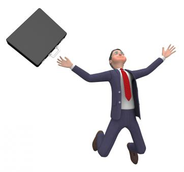Free Stock Photo of Businessman Falling Indicates Accident Over And Executive 3d Rendering