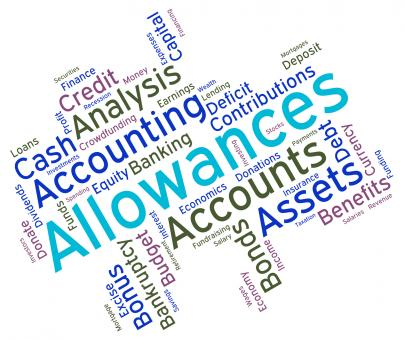 Free Stock Photo of Allowances Word Shows Text Words And Perks