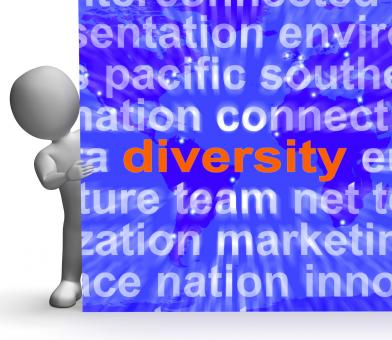 Free Stock Photo of Diversity Word Cloud Sign Shows Multicultural Diverse Culture