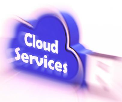 Free Stock Photo of Cloud Services Cloud USB drive Shows Online Computing Services