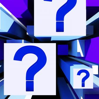 Free Stock Photo of Question Mark On Cubes Shows Uncertainty