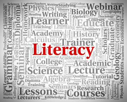 Free Stock Photo of Literacy Word Means Read Proficiency And Ability