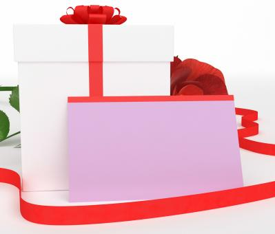 Free Stock Photo of Gift Card Shows Package Romantic And Box