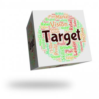 Free Stock Photo of Target Word Indicates Desired Result And Aim