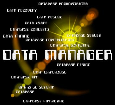 Free Stock Photo of Data Manager Shows Bytes Director And Managers