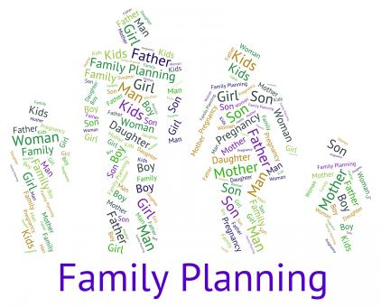 Free Stock Photo of Family Planning Represents Blood Relation And Children