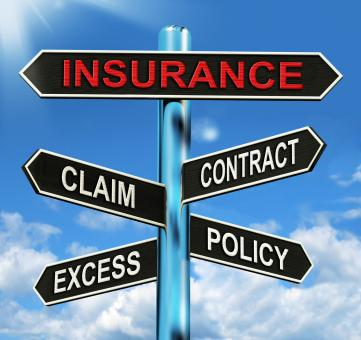 Free Stock Photo of Insurance Signpost Mean Claim Excess Contract And Policy