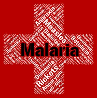 Free Stock Photo of Malaria Word Shows Ill Health And Disability