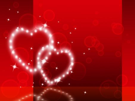 Free Stock Photo of Red Hearts Background Shows Fondness Special And Sparkling