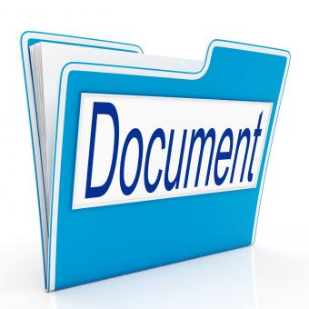 Free Stock Photo of Document On File Means Organizing And Paperwork