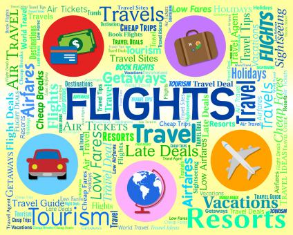 Free Stock Photo of Flights Word Indicates Vacation Aeroplane And Abroad
