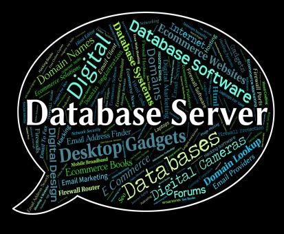 Free Stock Photo of Database Server Shows Word Networking And Databases