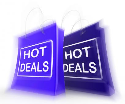 Free Stock Photo of Hot Deals Shopping Bags Show Shopping Discounts and Bargains