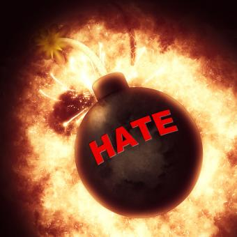 Free Stock Photo of Hate Bomb Means Bad Feeling And Anger