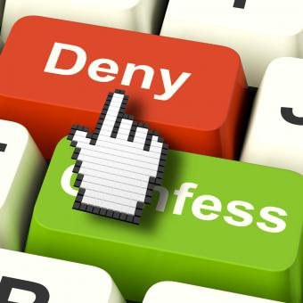 Free Stock Photo of Denial Deny Keys Shows Guilt Or Denying Guilt Online