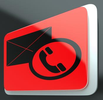 Free Stock Photo of Envelope Phone Sign Shows Contact Us Information