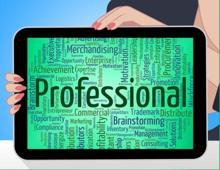 Free Stock Photo of Professional Word Represents Professions Educated And Specialist