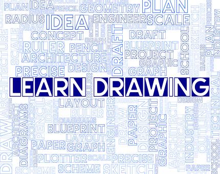 Free Stock Photo of Learn Drawing Means Educated Training And Educating