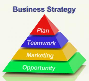 Free Stock Photo of Business Strategy Pyramid Showing Teamwork And Plan