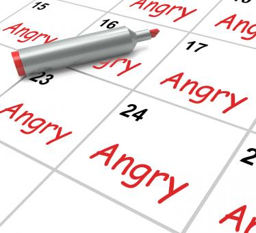 Free Stock Photo of Angry Calendar Means Fury Rage And Resentment