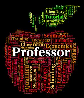 Free Stock Photo of Professor Word Represents Lecturers Teacher And Professors