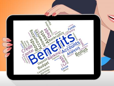 Free Stock Photo of Benefits Word Indicates Compensation Rewards And Pay