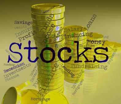 Free Stock Photo of Stocks Word Indicates Return On Investment And Financial