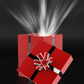 Free Stock Photo of Celebrate Surprise Means Gift Box And Present