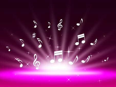 Free Stock Photo of Purple Music Backgrond Shows Singing Melody And Pop