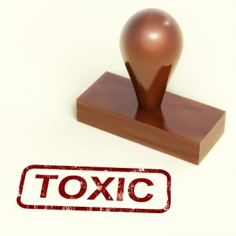 Free Stock Photo of Toxic Stamp Shows Poisonous And Noxious Substances